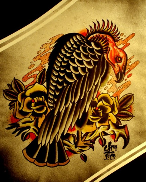 Ink it up trad tattoos blog herro i 39 ve been trying to for Vulture tattoo meaning