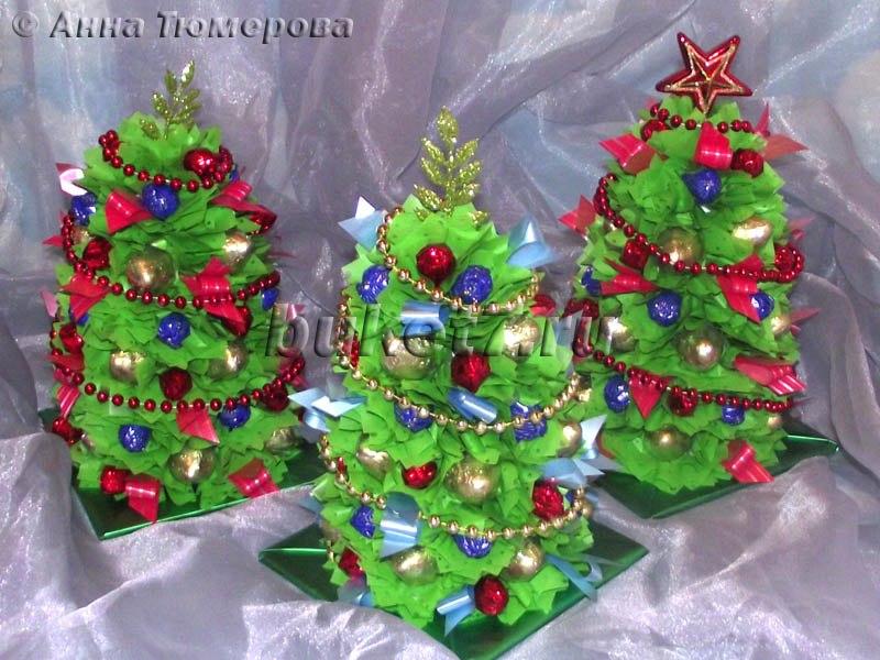 елки своими руками из подручных материалов