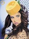 стильная девушка в иллюстрации.