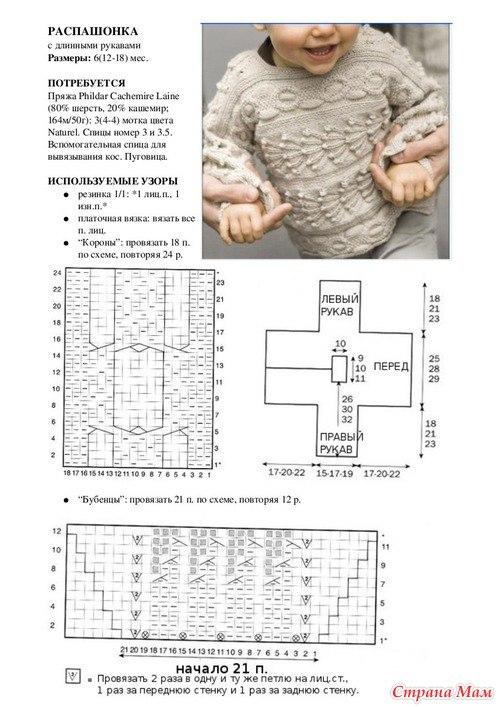 Вязание для детей 7 лет спицами с описанием и схемами 41