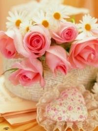 """Предпросмотр - Схема вышивки  """"Розы и ромашки """" - Схемы автора  """"lena-m-n """" - Вышивка крестом."""