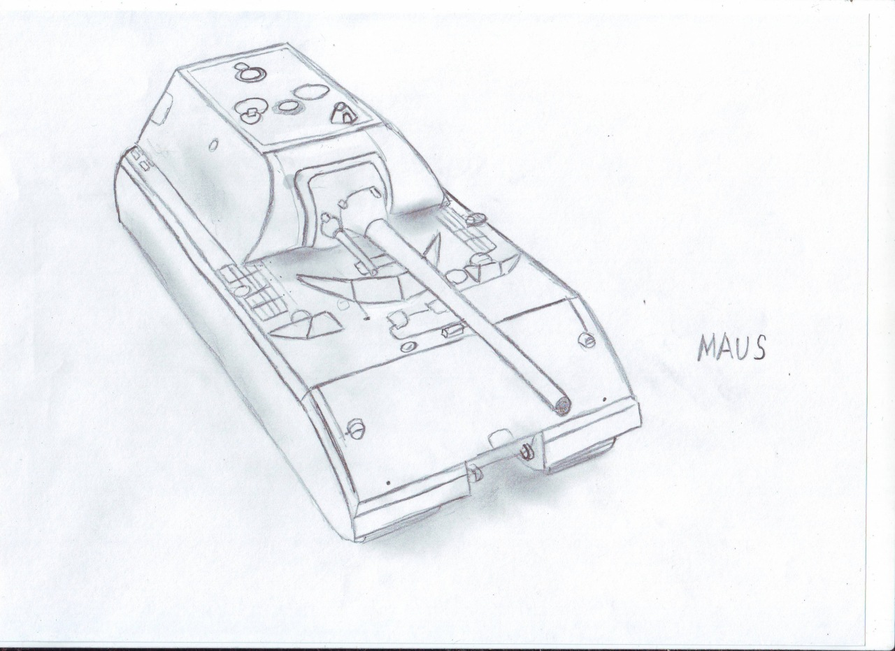 Рисунок маус карандашом