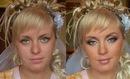Классика жанра :) Фотографии девушек до и после макияжа.