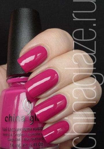 Цвет фуксия лак для ногтей