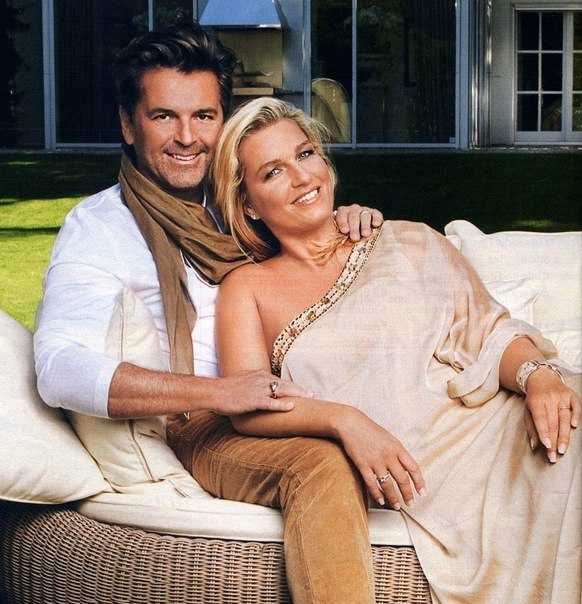 Family photo of the musician, married to Claudia Hess, famous for  Modern Talking,.
