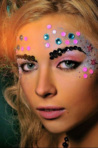 Вечерний макияж на большие глаза