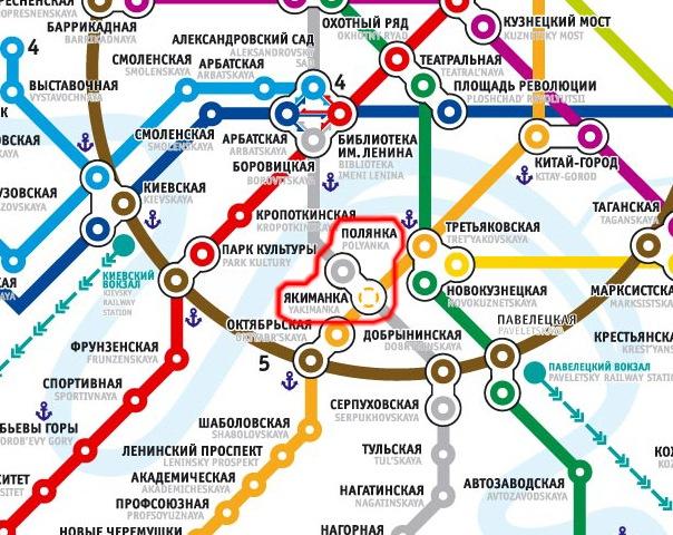 Полянка на схеме метро