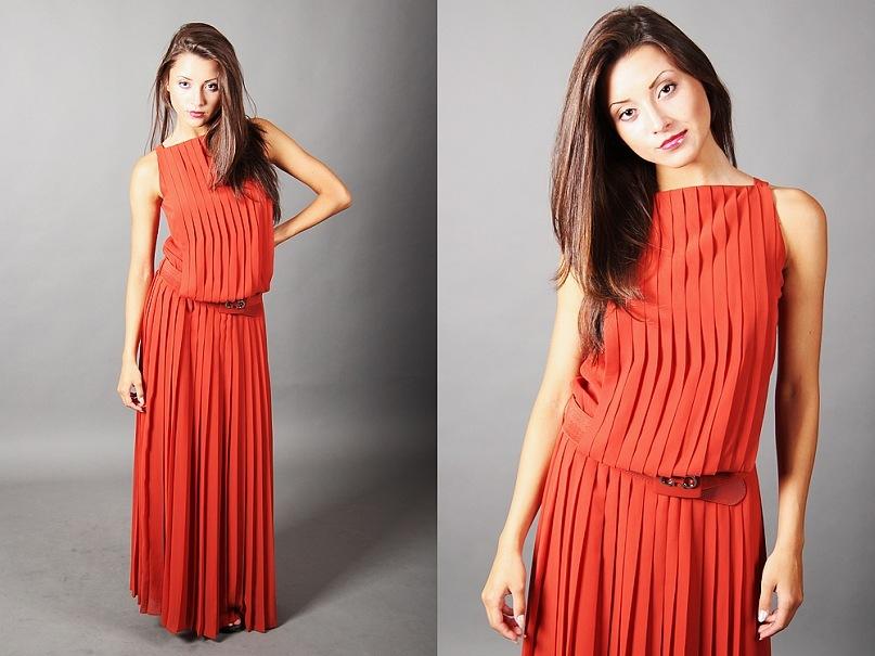 Как из плиссированной ткани сшить платье 79