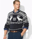 Свитер с оленями на заказ. мужской свитер с оленями высокий ворот.
