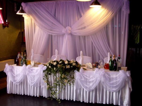 Оформление свадебного зала.