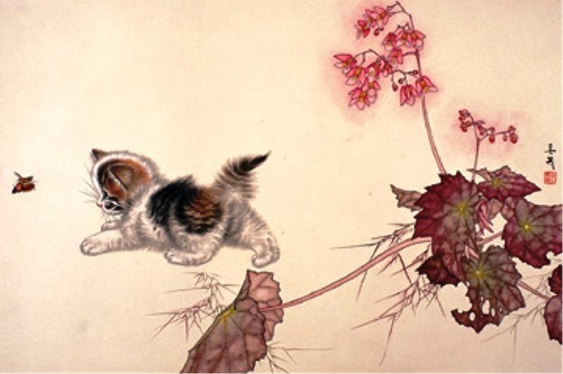 Японский художник рисующий