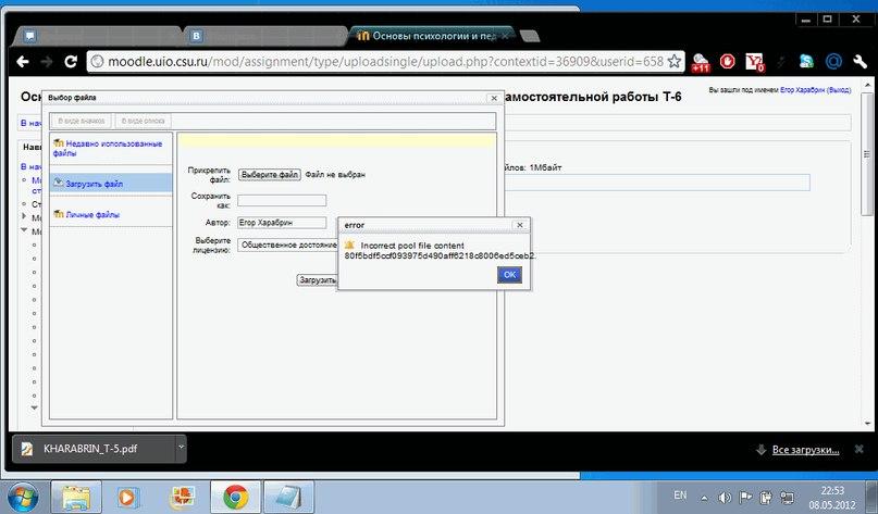 Error Screenshot #2