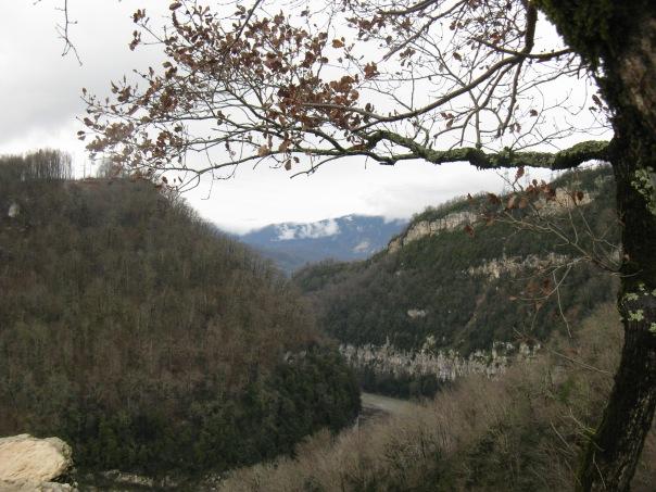 Ахштырский каньон. Виды с гор