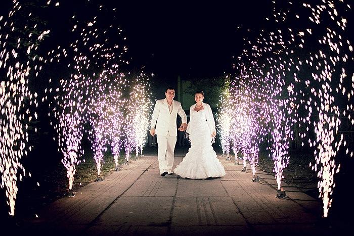 Купить фейерверк фонтан на свадьбу