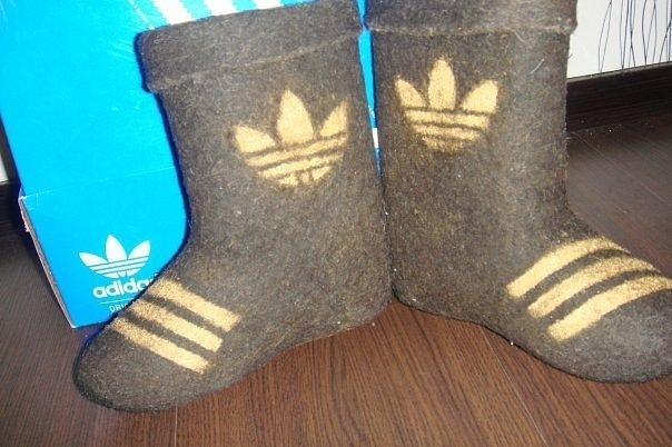Adidas представил коллекцию валенок