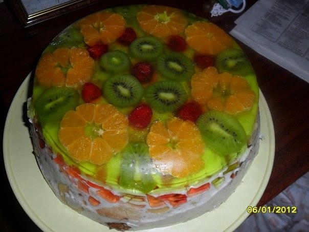 Желейный тортик рецепты с фото