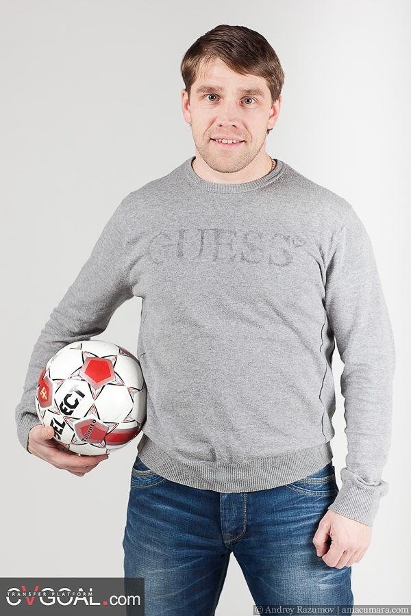 студийная фотография футболист