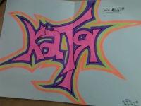 Граффити от zara на заказ на бумаге