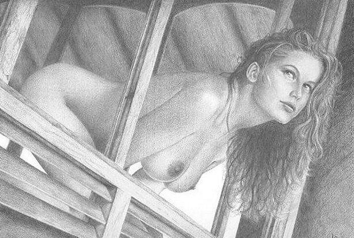 Рисованные обнаженные девушки картинки 16 фотография