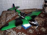Самолет мы раскрасили по схеме окраски эскадрильи французских пилотов...  Вот теперь отправили модель на весы с...