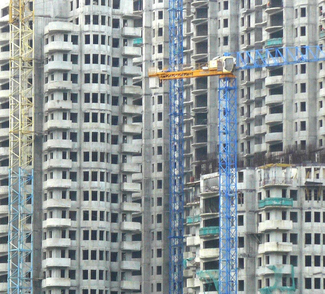 стройка многоэтажки