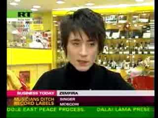 Земфира выпускает свой альбом через Евросеть (новости на английском языке) (IN ENGLISH!)
