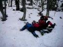 вытаптывание снега под палатку))