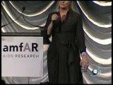 Meryl Streep singing at amFAR's New York Charity Gala