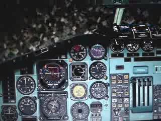 Вывод из плоского штопора Ту-154