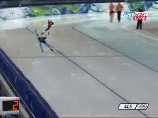 XXI Зимние Олимпийские Игры Ванкувер 2010. Конькобежный спорт. Мужчины Шани девис Лукас маковски дистанция 1500м