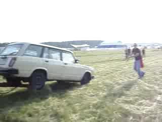 Прикольный Милицейский трактор с ГЛОБАЛА )))))))))
