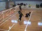 A clip from the 2006 World Championshps. The US women beat Japan (женская команда. на площадке голосом координируются)