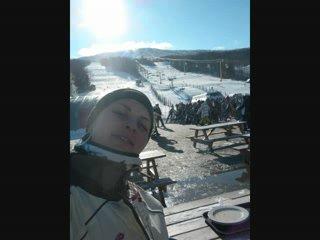 Snowboarding, Stratton mountain, Vermont, USA
