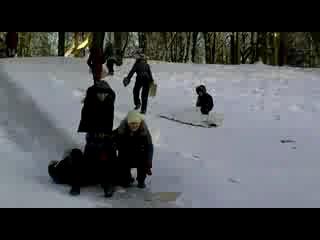 Я,Катя,Антон и Аня на горке)))))