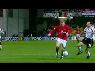 Гол Бекхэма с пенальти 19 03 2002 UEFA CL Boavista v Man United