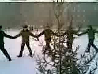 Номер худ. самодеятельности курсантов Иркутского ИВАИУ