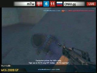 ★CMAX.gg vs mTw WCG 2009 match for place 3 1-st map de_nuke★