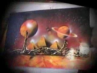 Рисунки обычными балончиками красски