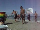 IBIZA,пляж BORA-BORA,реклама клуба PACHA,капаэро