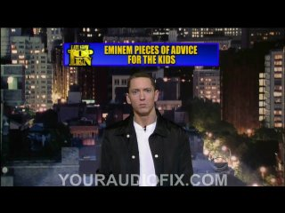 (2010) Eminem - Top Ten Pieces Of Advice For The Kids On The Late Show With David Letterman