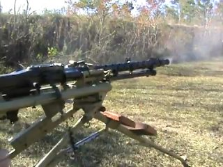 MG-34 lafette shooting
