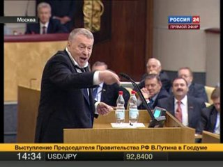 То самое видео где Жириновский передал папку с компроматом лично Путину,