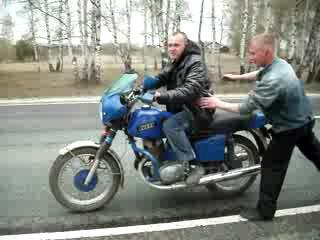 встал на дыбы и упал)))