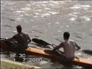 Первенство псковской области по гребле на байдарках 1-2 июля 2000 г. (любительское видео)