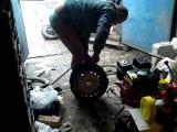 новый способ бортировки колес:))