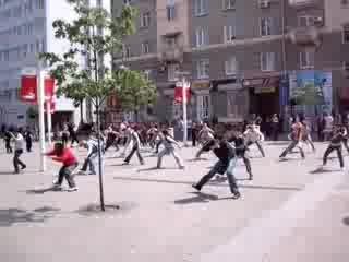 Флеш-моб  нашей школы капоэйра в Днепропетровске!
