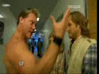 WWE Monday Night RAW - Chris Jericho backstage [19.04.2010]