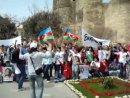 Студенты.AZ Баку ждет Победы!Акция в поддержку Сафуры у Девичьей Башни в Баку