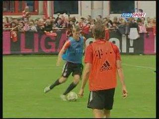 Тренировка Баварии перед важным матчем с Вольфсбургом