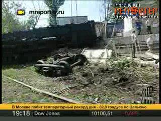 Поезд протаранил авто в Москве(эфир